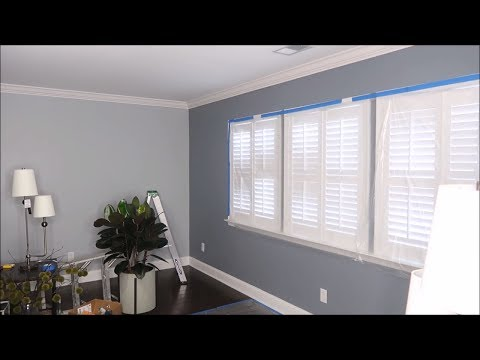 INTERIOR DESIGN| UPDATING MY LIVING ROOM (CROWN MOLDING & NEW PAINT FULL PROCESS VLOG)