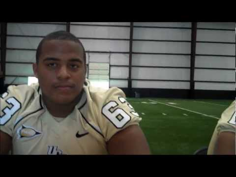 UCF OL Jordan and Justin McCray at Media Day