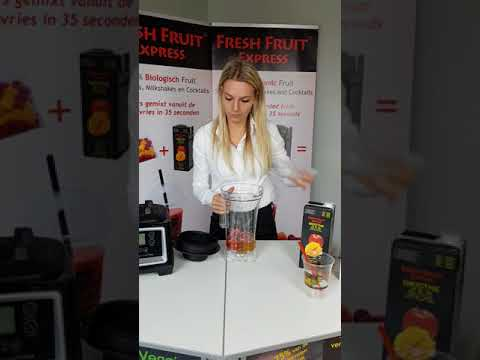 Fresh Fruit Express Bereiding Smoothie Basis Blender Nederlands