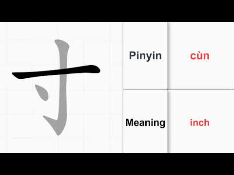 How to write 214 Chinese Radicals - inch (cùn) (no.41) |Learn Chinese from A-Z