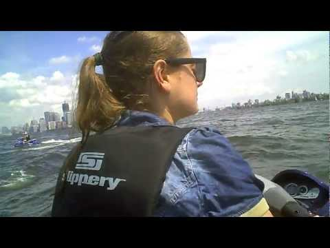 Driving Jet Ski around Statue of Liberty ( Manhattan )