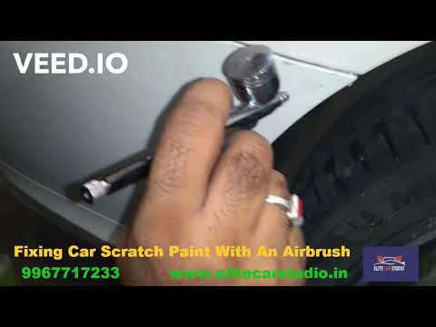 Fixing Car Scratch Paint With An Airbrush on Mercedes cla 200