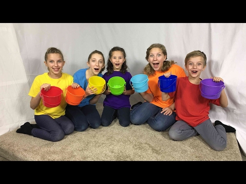 Thumbnail: Learn English Colors! Rainbow Bucket Surprise Egg with Sign Post Kids!