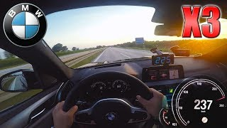2019 BMW X3 xDrive25d   Pushing on German Autobahn✔