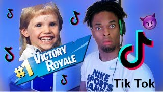 I Played Fortnite with my 10 Year Old TIK TOK Fans *Cringe*