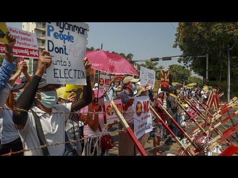 شاهد: تواصل المظاهرات في ميانمار احتجاجا على الانقلاب العسكري …  - 20:59-2021 / 2 / 24