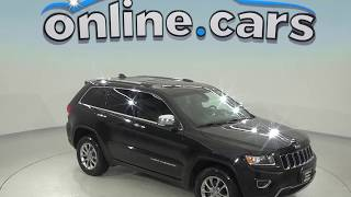 A98617GT Used 2015 Jeep Grand Cherokee Limited 4WD Black Test Drive, Review, For Sale