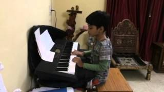 Arnav Playing Jan Gan Man on keyboard