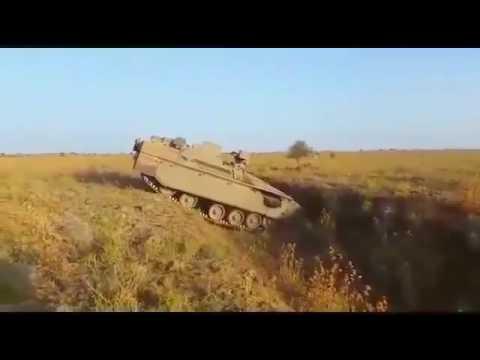 Israel MOD   Namer Heavy Combat Engineering Vehicle Field Testing 360p