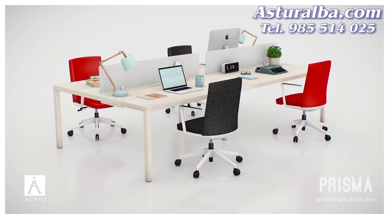 Mesa Prisma - Diseño escandinavo para oficinas - Asturalba