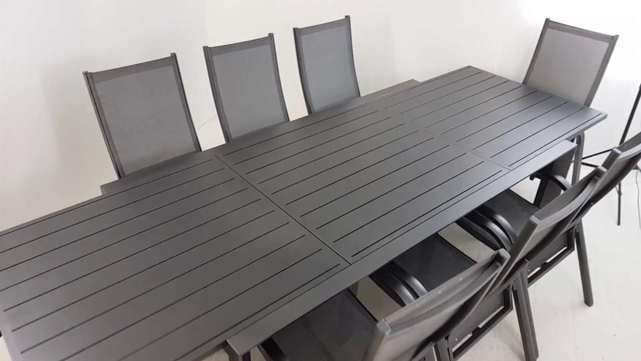 Conjunto comedor de aluminio para jardín - Muebles Jardín - YouTube