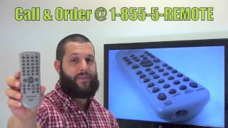 FUNAI NF108UD Remote Control - www.ReplacementRemotes.com
