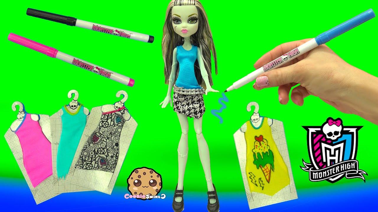 Custom Dress Designer Booo Tique Monster High Doll Marker Playset Cookieswirlc Video Youtube