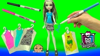 Custom Dress Designer Booo-tique Monster High Doll & Marker Playset - Cookieswirlc Video(Custom color your own fear-some dresses for your Monster High ghouls with this Designer Boo-tique playset! Comes with 3 fabric marks to doodle with. Use the ..., 2016-02-19T00:04:23.000Z)