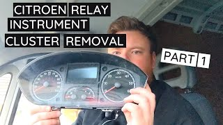 Citroen Relay Instrument Cluster Removal for Repair   Part 1