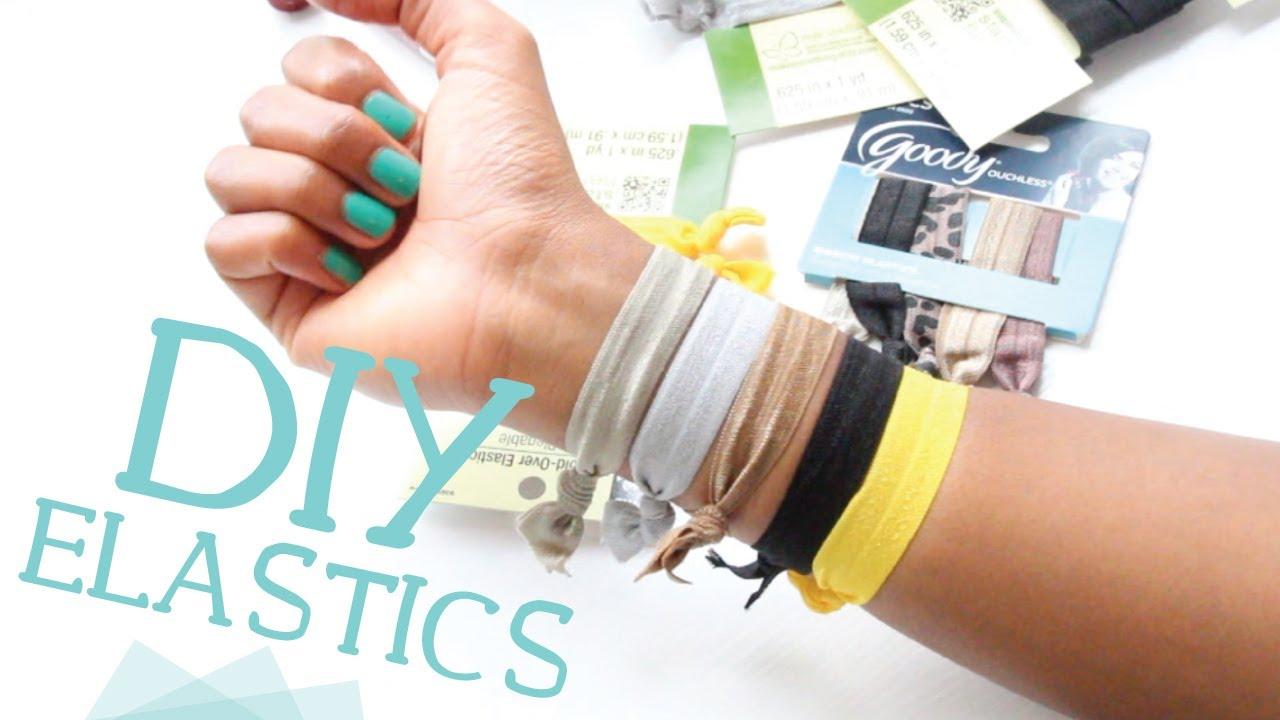DIY Ribbon Elastic Hair Ties w  Fold Over Elastic! - YouTube c766576b290
