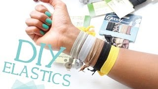 DIY Ribbon Elastic Hair Ties w/ Fold Over Elastic!