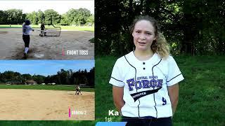 Kayla Weber NCAA Softball Recruitment Video Class of 2022 1st Base Outfield