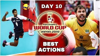 Men's Volleyball World Cup 2019   Best Actions   Day #10 (HD)