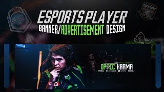 Photoshop Tutorial: Esports Player Banner/Ad Design