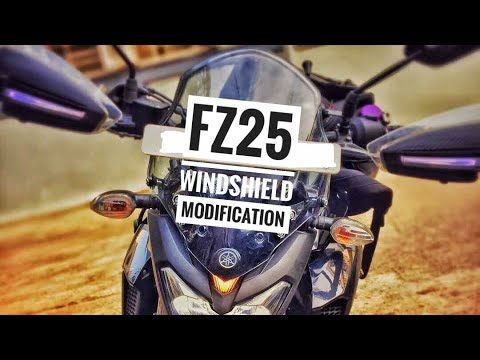 FZ25 Windshield modification| JUGAAD for all naked bikes