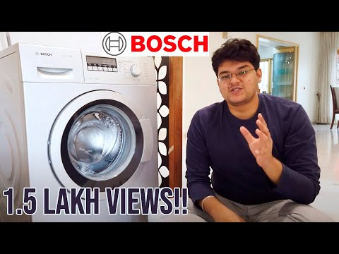 Best Washing Machine in India 2019? Bosch Washing Machine Review and Demo - Hindi Mein