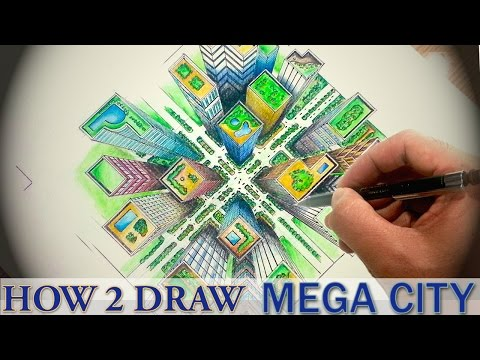 How To Draw ✎ City Top Down View | DearingDraws