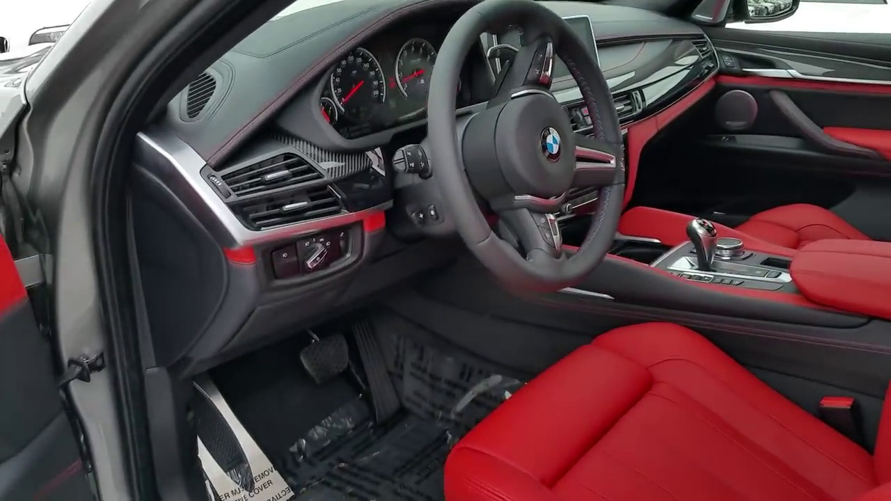 All New Bmw X6 M Donington Grey Mugello Red Leather Exhaust Sound