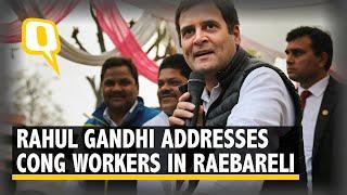 Rahul Gandhi Addresses Congress Workers in Raebareli