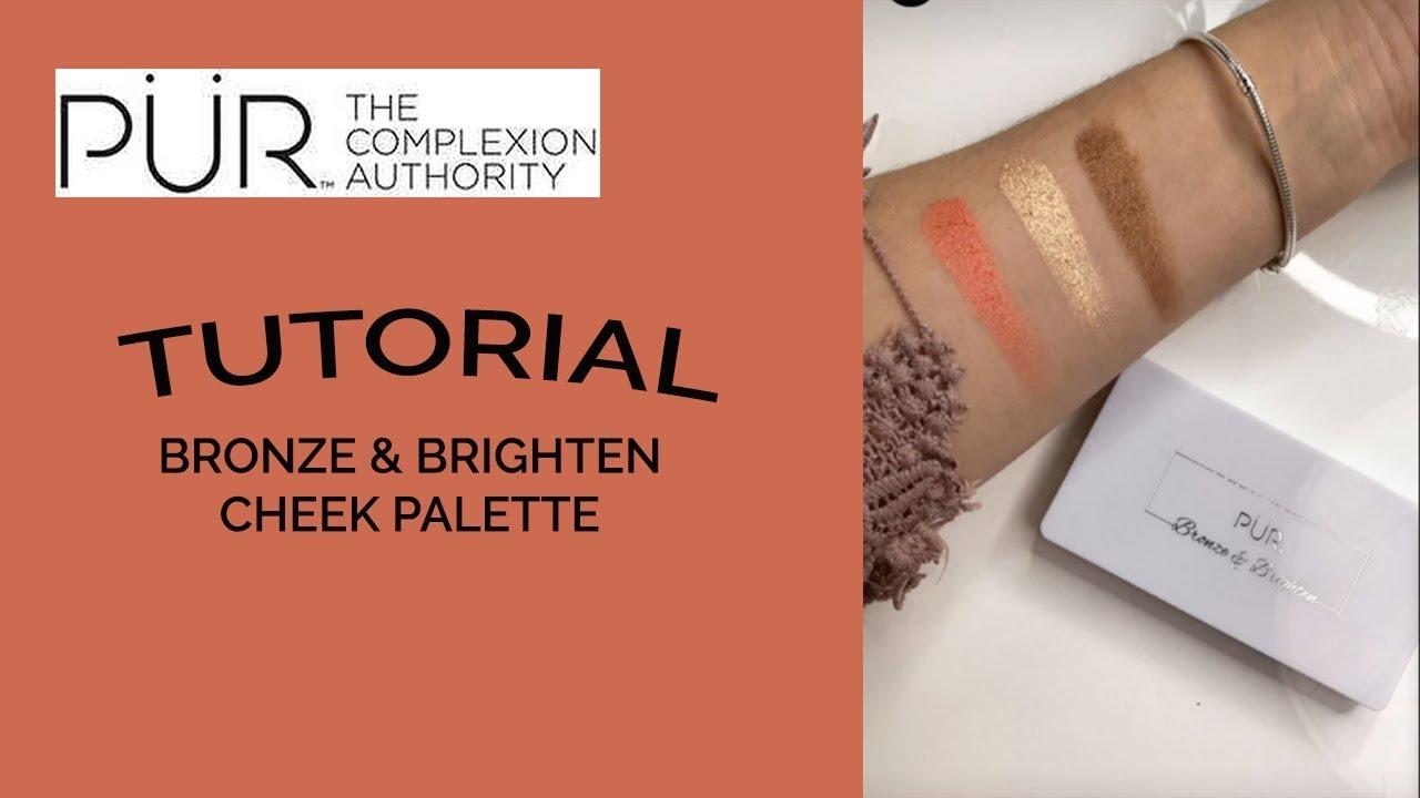 Bronze & Brighten Cheek Palette by pür #6