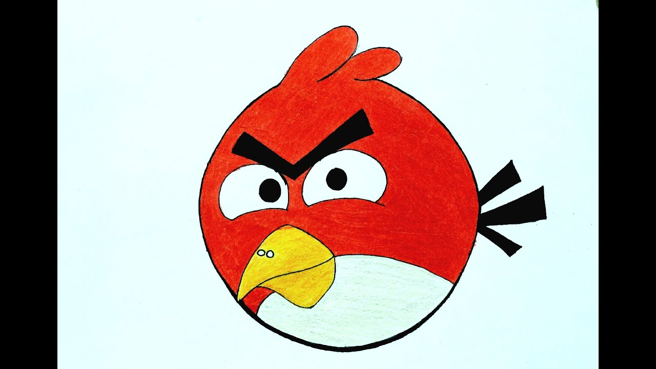 How To Draw A Angry Bird !! How To Make A Angry Bird
