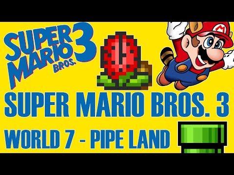 Super Mario All-Stars: Super Mario Bros. 3 - World 7 Pipe Land
