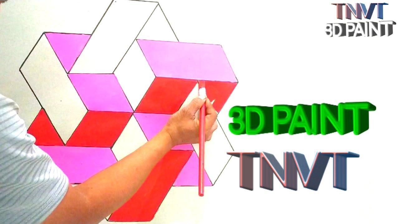 DRAWING OF 3D BLOCK   3D DESIGN   INTERIOR  VẼ HÌNH KHỐI 3D.