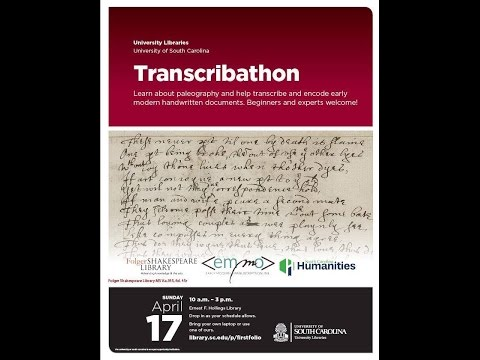 Manuscript transcribathon at the University of South Carolina