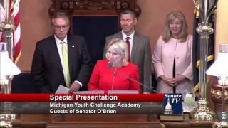 Sen. Nofs welcomes the Michigan Youth Challenge Academy to the Michigan Senate