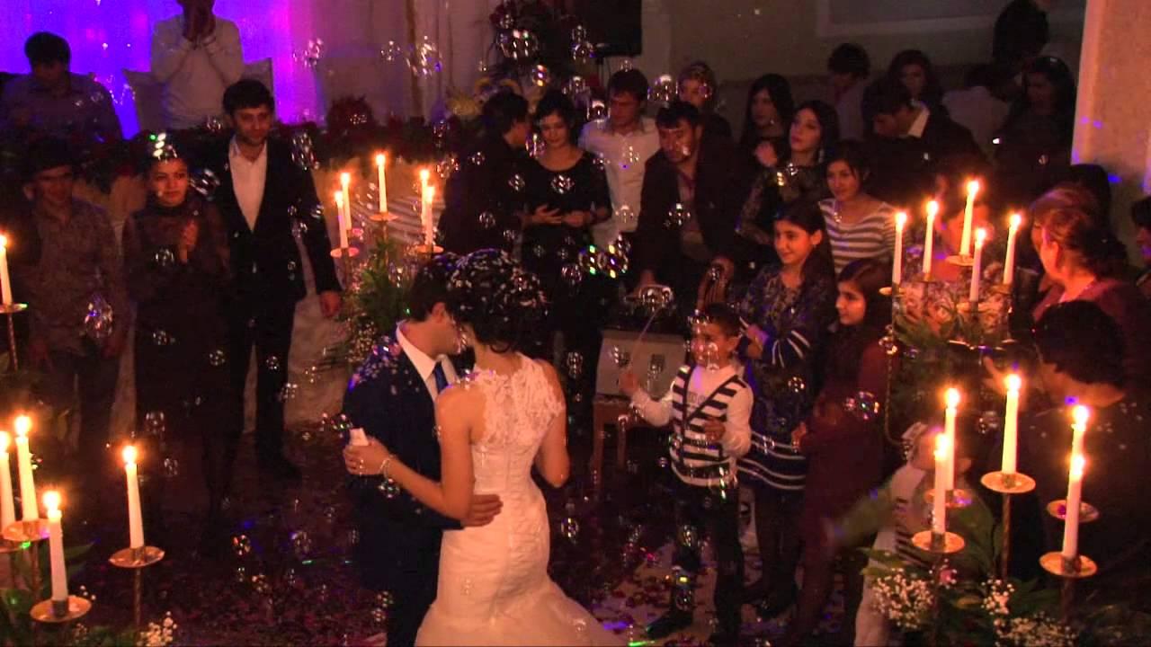 Азербайджанская свадьба танец жениха и невесты