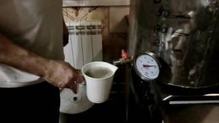 Первое затирание солода с самодельной мешалкой и фильтрация сусла съёмной фильтр системой