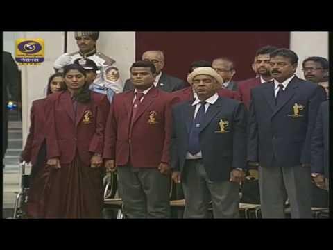 Khel Ratna (National Sports) Awards presented by Hon'ble President of India Pranab Mukherjee