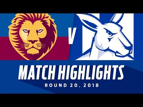 Brisbane v North Melbourne Highlights | Round 20, 2018 | AFL