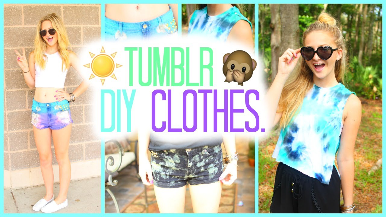 DIY Tumblr Inspired Summer Clothes 2015