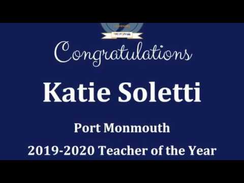 2019-2020 Port Monmouth Elementary School Teacher of the Year: Katie Soletti
