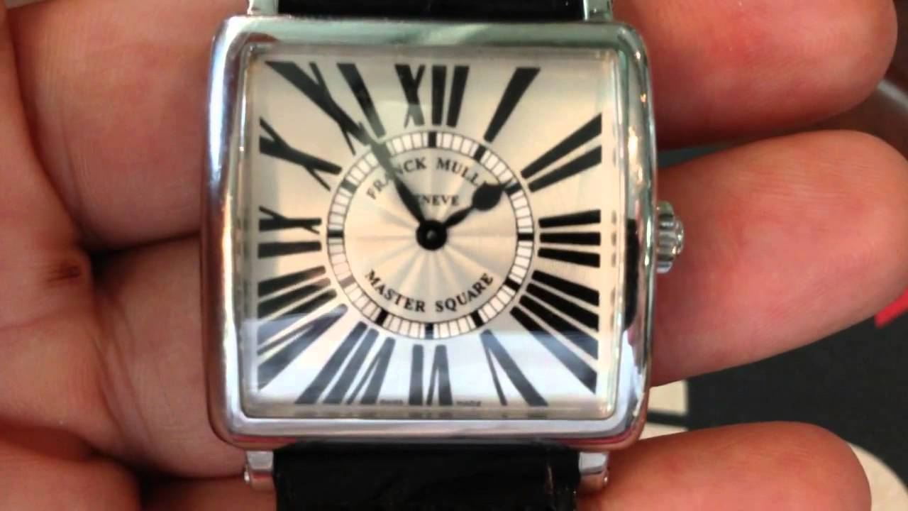 e2ef084f273 Franck Muller Ladies Master Square in Steel - LUXURY WATCHES OF CLASSY  PEOPLE - YouTube