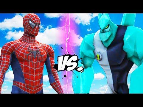 SPIDERMAN VS BEN 10 - Diamondhead (Cristal) vs Spider-Man (2002)