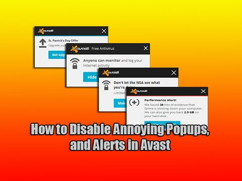 How to Disable Annoying Popups, and Alerts in Avast - YouTube