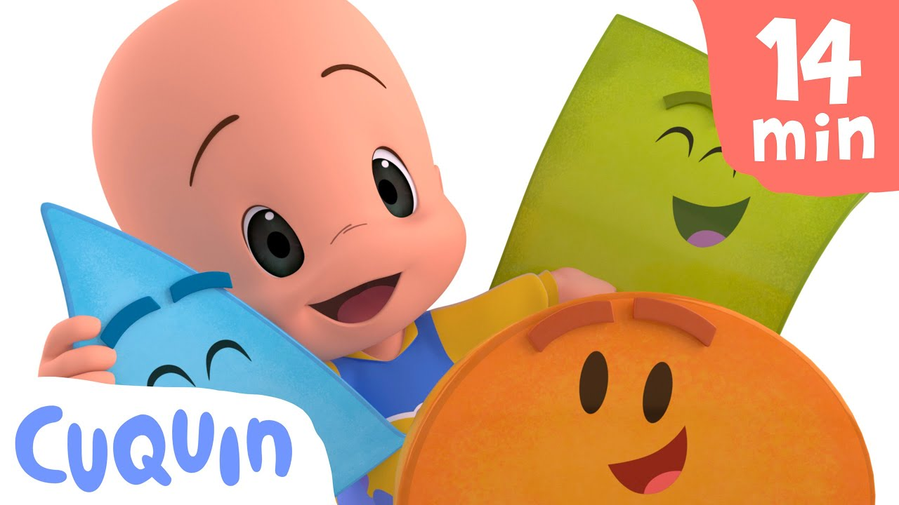 Cuquin and the shapes 🔵🔶❤️ and more educational videos | videos & cartoons for babies