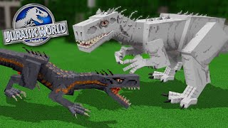 INDORAPTOR Vs INDOMINUS REX!!! - Jurassic World Minecraft DLC | Ep5