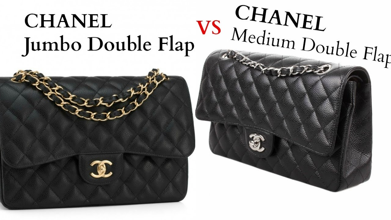 c6ef38831ba9 Chanel Flap Medium vs Jumbo Comparison - YouTube