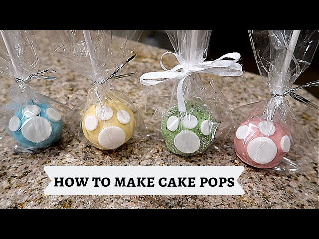 HOW TO MAKE CAKE POPS THE EASY WAY!!!