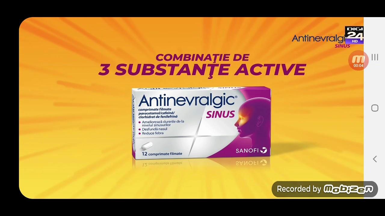 Reclama ANTINEVRALGIC SINUS 4 SIMPTOME , UN SINGUR REMEDIU , Ianuarie 2021
