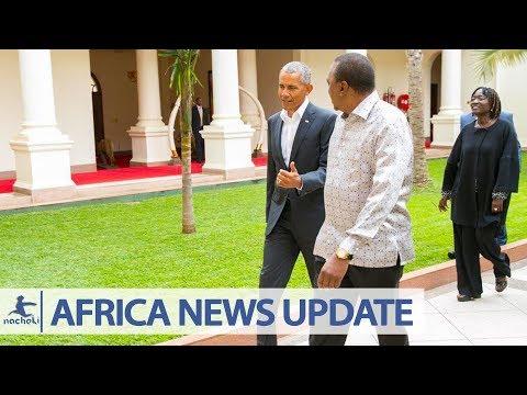 Former US President Obama Arrives in His African Homeland Kenya